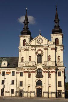 St, Ignatius Church In Jihlava Stock Photo