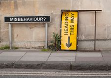 Free Direction For Misbehavours Stock Photo - 19538560