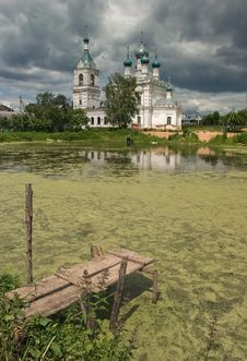 Free Christian Temple At A Pond. Royalty Free Stock Photos - 19538698