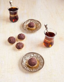Free Chocolate Biscuit Balls Stock Photography - 19539282