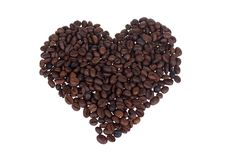 Free Coffee Bean Heart Royalty Free Stock Images - 19539369