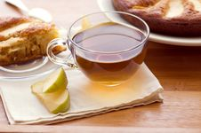 Free Tea And Apple Pie Royalty Free Stock Images - 19539469
