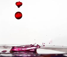 Free Drops Of Pink Stock Image - 19539521