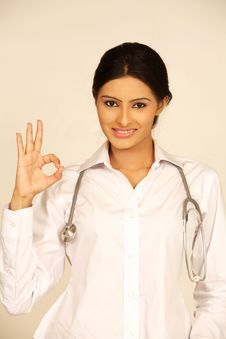 Free Indian Young Doctor Woman Stock Photo - 19539570