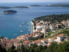 Free Panorama Of Hvar Old Town Stock Image - 19539741