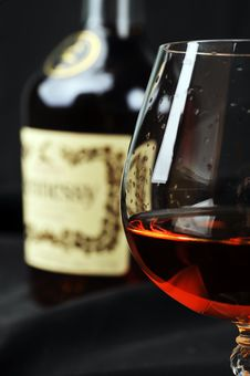 Free Glass Of Cognac Royalty Free Stock Photography - 19539797