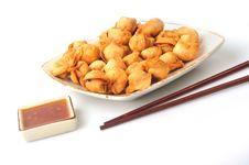 Free Fried Dumplings Royalty Free Stock Photos - 19539848