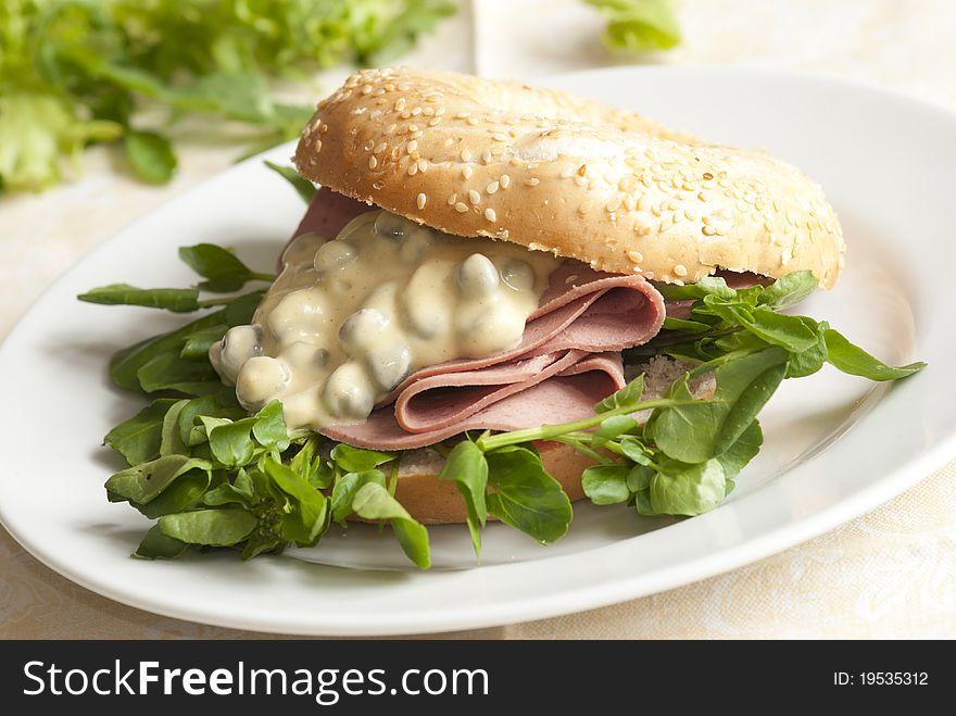 Filled bagel