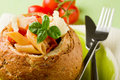 Free Bread Stuffed With Pasta Royalty Free Stock Photo - 19545965