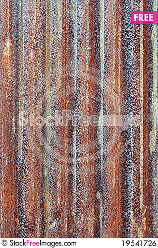 Rusty zinc metal plate Stock Photo