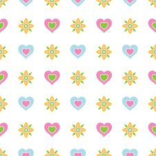 Free Hearts And Flowers Stock Image - 19540041