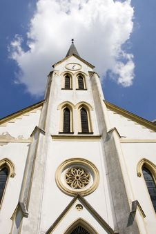 Free Reformed Church Tower, Hungary Stock Photo - 19540730