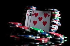 Free Success In Poker And Chips Stock Photography - 19540742