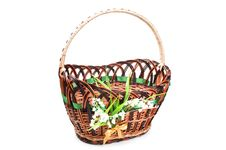 Free Wicker Basket Royalty Free Stock Image - 19540816