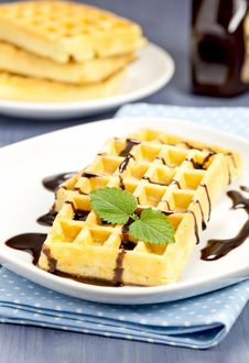 Fresh Waffle Royalty Free Stock Photo