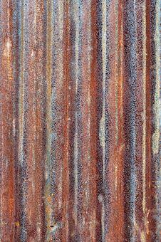 Rusty Zinc Metal Plate Royalty Free Stock Image