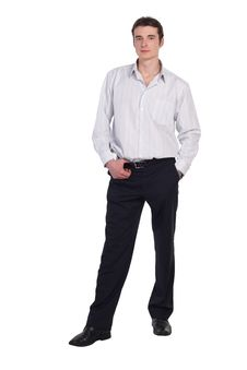 Free Man Standing In Shirt And Pants Isolated Royalty Free Stock Photos - 19541748