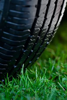 Free Wheel On The Grass Royalty Free Stock Photography - 19542327