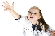Free Portrait Of A Happy Liitle Girl Royalty Free Stock Image - 19542946