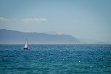 Sailing Boat In Sea Royalty Free Stock Photography