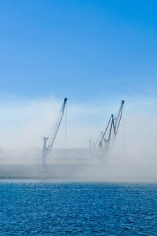 Free Two Cranes In The Mist Stock Photography - 19542982