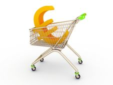 Free The Shopping Cart With Sign Of Euro Royalty Free Stock Photos - 19543028