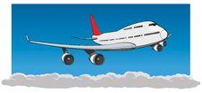 Free Flying Jumbo Jet Royalty Free Stock Image - 19544806