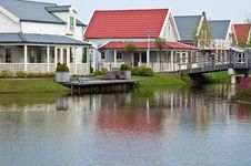 Free Dutch Houses . Stock Images - 19545214