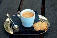 Cup Of Coffee And Cookies. Royalty Free Stock Image