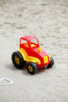 Free Little Red Toy Car Royalty Free Stock Image - 19546266
