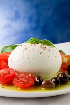 Tomato Mozzarella Salad Royalty Free Stock Photos
