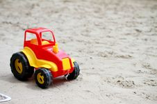 Free Little Red Toy Car Royalty Free Stock Images - 19546279