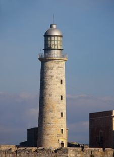 Detail Of El Morro Lighthouse In Havana Bay Stock Images