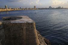 Havana Skyline And Bay Entrance Stock Photography
