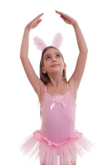 Free Girl Wearing Bunny Ears On White Stock Photo - 19547680