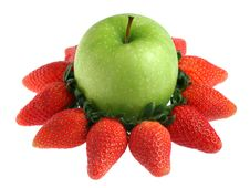 Free Green Apple And Strawberry Stock Photo - 19547840