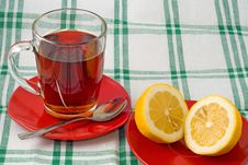 Free Cup Of Tea And Lemon Stock Images - 19548264