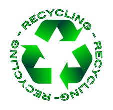 Free Recycling Icon Royalty Free Stock Photos - 19548488