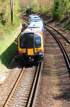Free Passenger Train. Commuter Link Stock Images - 19548834