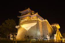 The Night Of The Zhengyangmen Royalty Free Stock Image