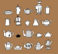 Free Teapots Stock Photography - 19549422