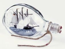 Free Ship In A Bottle Royalty Free Stock Image - 19549746