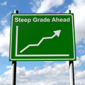 Free Steep Grade Sign With Rising Sales Chart Stock Photography - 19550132
