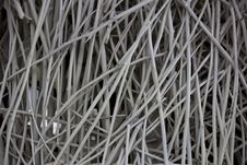 White Painted Bamboo Texture Stock Photography