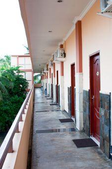 Hotel Corridor Stock Image