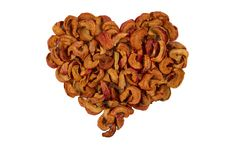 Free Heart Of Dried Apples Royalty Free Stock Photos - 19551148
