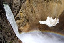 Free Lower Falls And Rainbow Stock Photos - 19551273