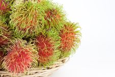 Free Rambutans In A Basket Stock Image - 19551401