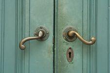Free Wooden Green Door Royalty Free Stock Photo - 19551445