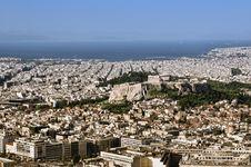 Free Athens Skyline Royalty Free Stock Photo - 19551625